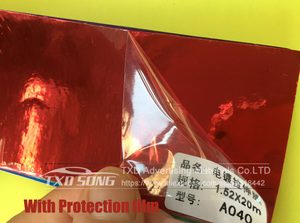 Image 3 - 50CM*100/200/300/400/500CM/Roll RED High stretchable Chrome Mirror Vinyl Wrap Sheet Roll Film Car Sticker Decal Sheet