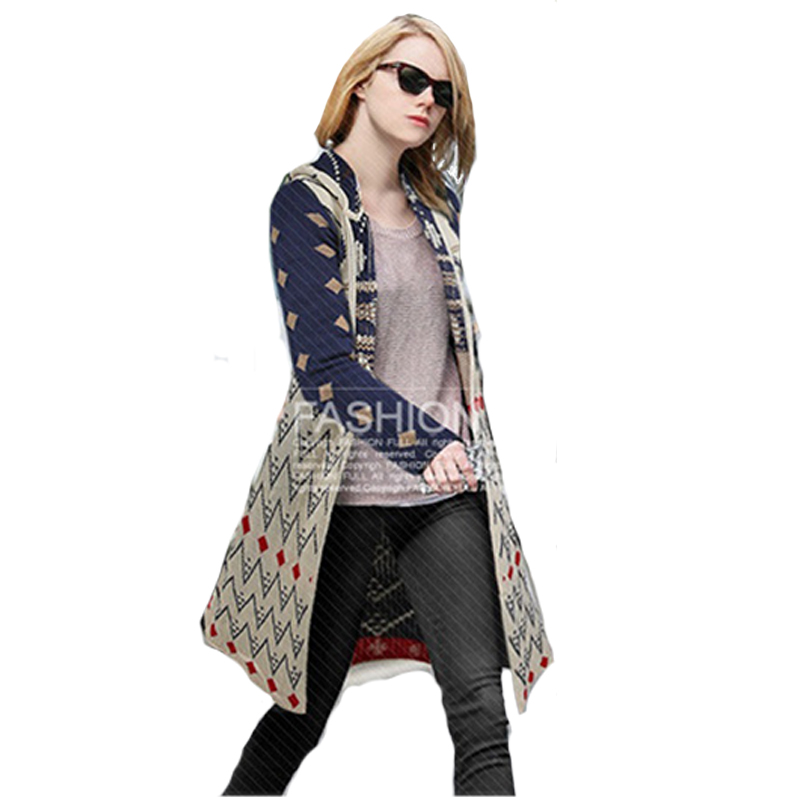 Sweaters 2015 Women Fashion Autumn Winter Bohemian Hooded ...