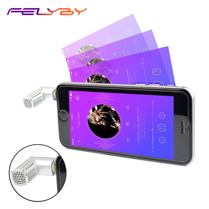 FELYBY Wireless Mini Condenser Microphone For Mobile Phone Recording Video Karaoke Portable Mic