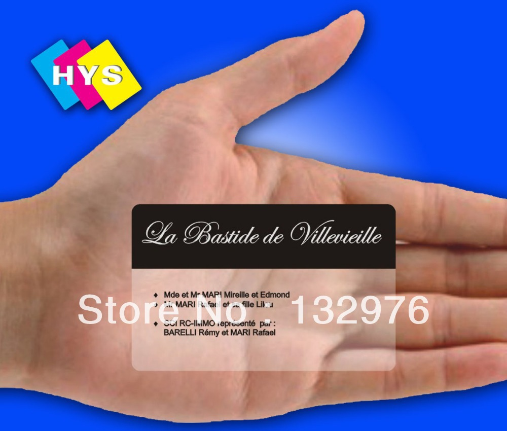 Clear Plastic Card  And Business Member Card Printing
