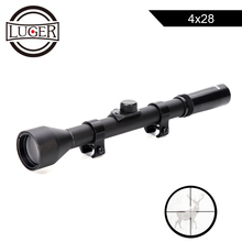 LUGER 4X28 Hunting Optical Sight Riflescope For Airsoft Guns Tactical Game Rifle Scope