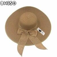 2017 Newest Women Large Floppy Sun Caps Female Summer Straw Hats Ladies Wide Brim Beach Hat