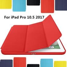 Para el Nuevo ipad 2017 iPad Pro 10.5 pulgadas Caso Ultra delgado Inteligente Caso 3 Soporte Plegable Auto Sleep/Wake Contraportada + regalo