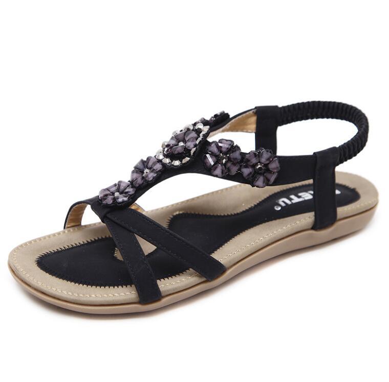 HTB1VrNua8r0gK0jSZFnq6zRRXXaw Summer Shoes Women Bohemia Ethnic Flip Flops Soft Flat Sandals Woman Casual Comfortable Plus Size Wedge Sandals 35-45