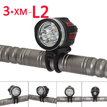 Bicycle Flashlight 3600LM 3x XM-L2 LED Front Bicycle Light Ultra Fire DC 4 Modes head Light Bike Lamp Back Tail Light(China)