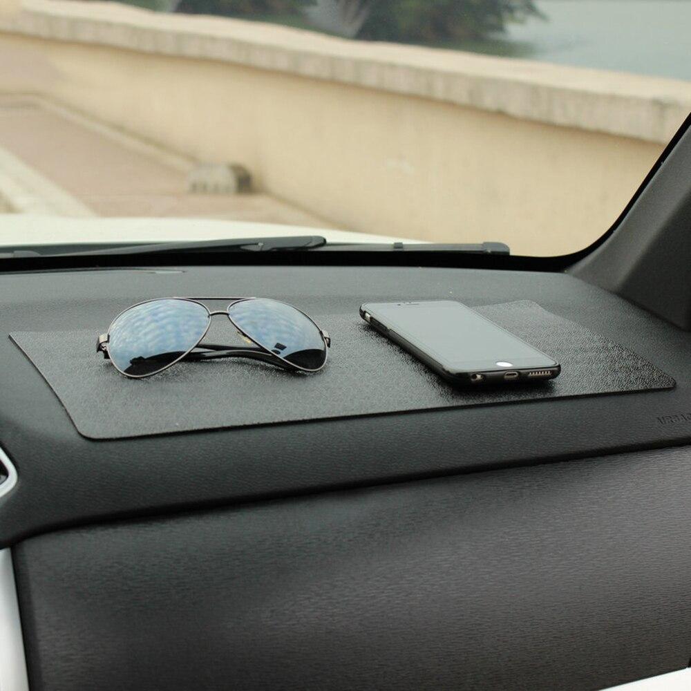 Auto Ornament PU 40x20 cm Klebrige Auflageantibelegmatte Autos Interior Dekoration Rutschfeste Kissen Armaturenbrett Halterung für GPS Telefon