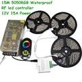 20M 15M 10M DC12V 60led/m SMD 5050 RGB Flexible Led Light Waterproof LED Strip + RF Touch Remote Controller+Power Transformer