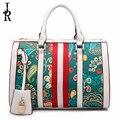 Ladies bag pillow bag 2016 new spring and European fashion Boston barrels printed hand Messenger bag