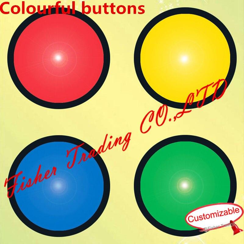 La vraie vie évasion chambre jeu prop, magique coloré boutons pour évasion mystérieux chambre, jeu d'aventure accessoires pour Le takagisme jeu