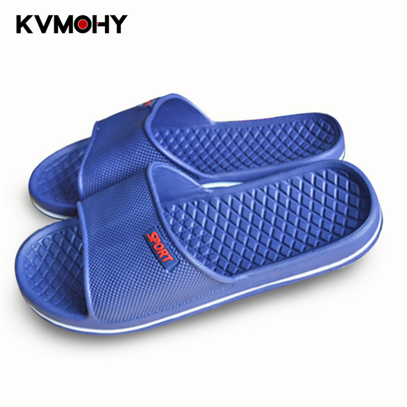 Men Shoes Bathroom Slippers Non-slip Indoor Home Slippers Outdoor Beach Flip Flops Shoes Summer Slides Slipper Male bathroom slippers slip bath leaking water home shoes women slippers plastic home lovers slides slippers summer flip flops