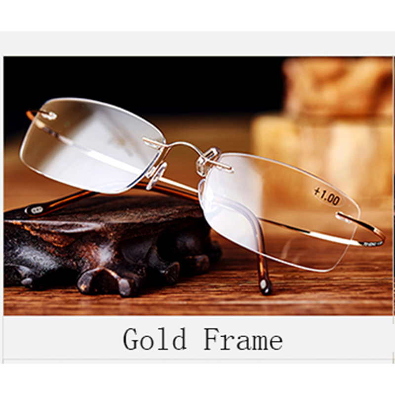 Pure Titanium Frame Magnetic Reading Glasses Men Women Diopter - Apparel Accessories - Photo 5
