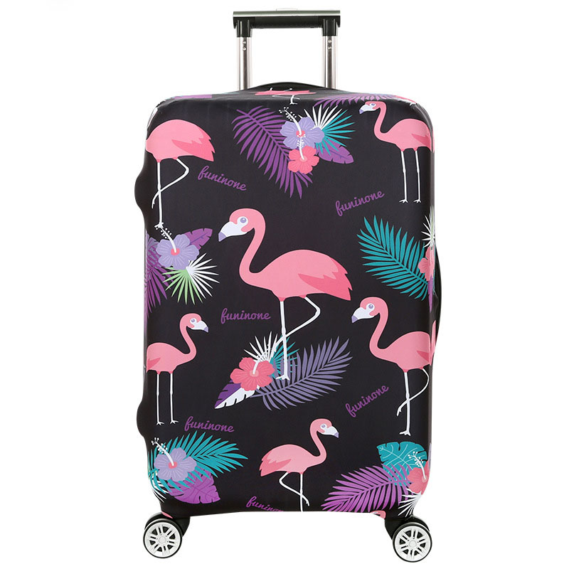 TRIPNUO Thickest Travel Pink Flamingos Luggage Cover Suitcase Protective Cover for Trunk Case Apply to 19-32'' Suitcase Elastic