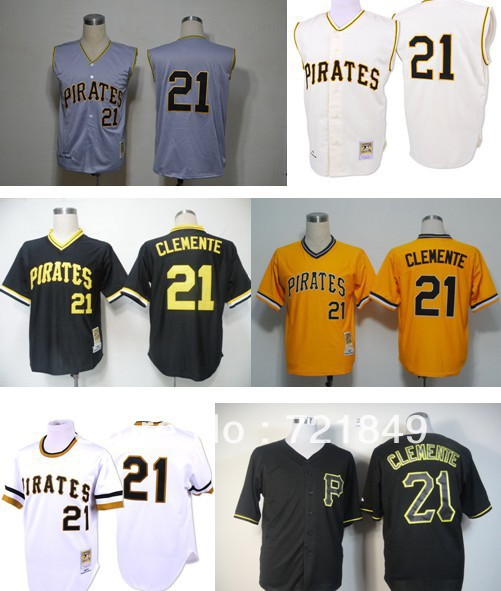 online store 1b9be 453a1 pittsburgh pirates 21 roberto clemente yellow 1971 throwback ...