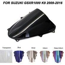 For 09-16 Suzuki GSXR1000 GSXR GSX-R 1000 K9 2009-2016 Motorcycle Motorbike Windshield Double Bubble Windscreen Wind Deflectors цена