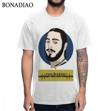Hip Hop Post Malone Rockstar T Shirt Unisex 2019 New Homme Tee Pure Cotton Plus Size T-shirt Casual Camiseta