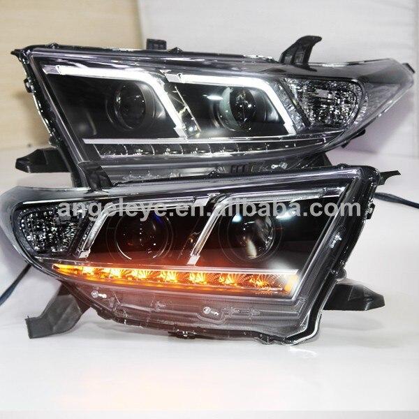 2011 2013 year Kluger Highlander F Style Angel Eyes LED Head Lights TLZ