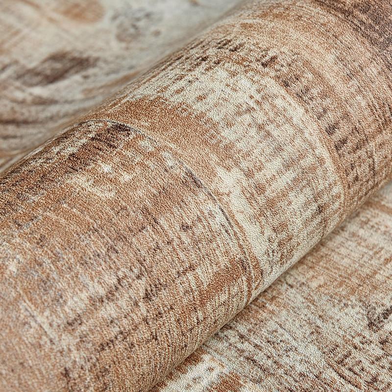 Купить с кэшбэком PAYSOTA Wallpaper Vintage Nostalgic Copy Of The Wood Character Bedroom Bar Coffee Shop Striped Background Wall Paper Roll
