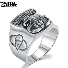 Commemorative Soldier Ring For Men And Boys Sterling Silver 925 Jewelry Fashion Poker Retro 101 airborne division Eagle Ring