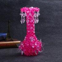 0.5 KG Acrylique pendentifs cristal perles dispersés perle rideau de mariage accessoires cône pendentif diamant pendentif boule