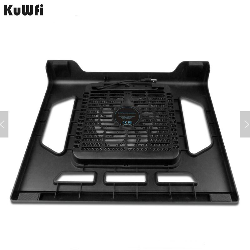Image 2 - Cooling Pad For Laptop Tablet PC Notebook Below 15 Inch Cooler Pad Laptop Cooling With Single Fan 2 Blue LED Ergonoimice Design-in Laptop Cooling Pads from Computer & Office