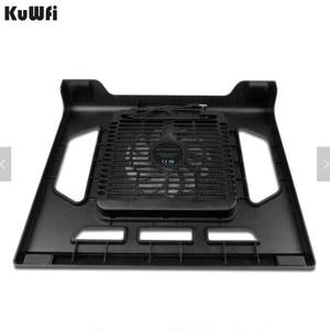 Image 2 - Podstawka chłodząca do laptopa Tablet PC Notebook poniżej 15 Cal podkładka chłodząca chłodzenie laptopa z pojedynczym wentylatorem 2 niebieska dioda LED Ergonoimice Design
