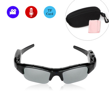 96d6a26e8f Gafas de cámara para deportes al aire libre Mini gafas de sol polarizadas  videocámara Secert seguridad inteligente Cam DV voz grabadora de Audio  micrófono