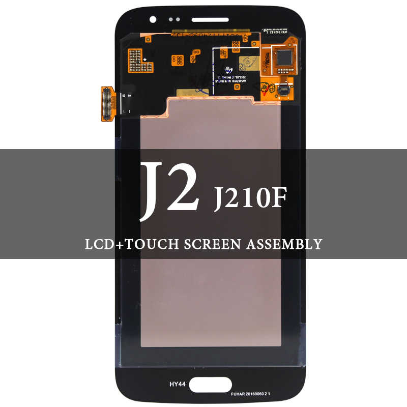 لسامسونج J2 2016 J210 J210F شاشة الكريستال السائل سوبر AMOLED مع مجموعة المحولات الرقمية لشاشة تعمل بلمس لسامسونج J210 J210F LCD شاشة