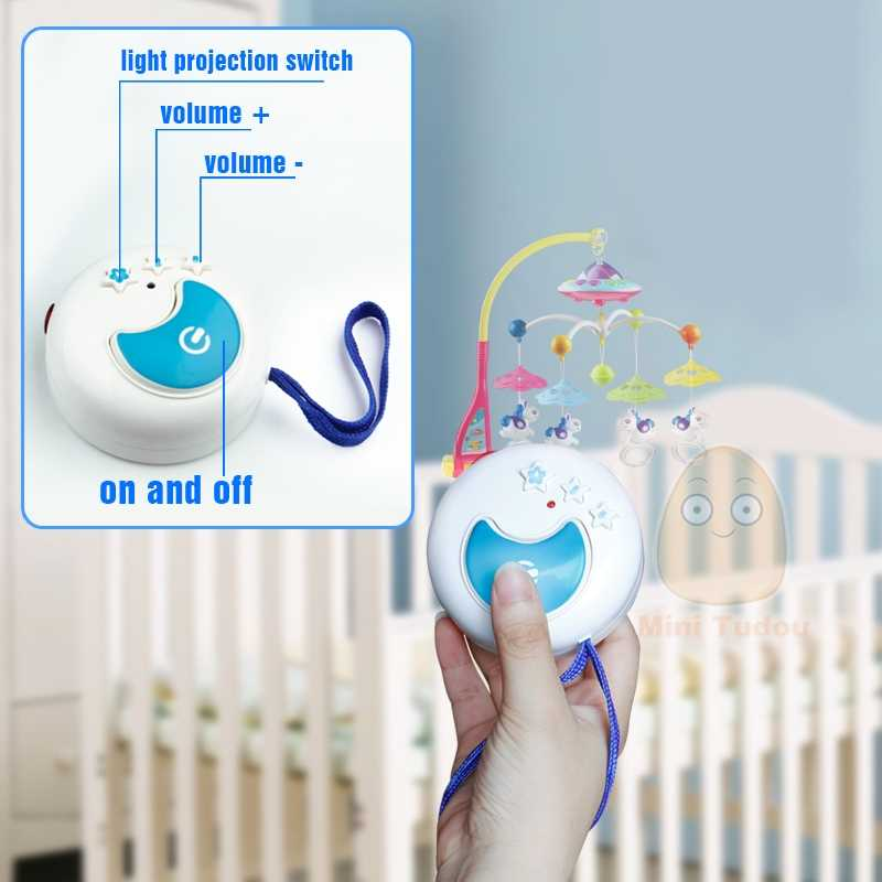 316ae66e56a ... Baby Crib Toy 0-12 Months For Newborn Mobile Musical Box Bed Bell With  Animal ...