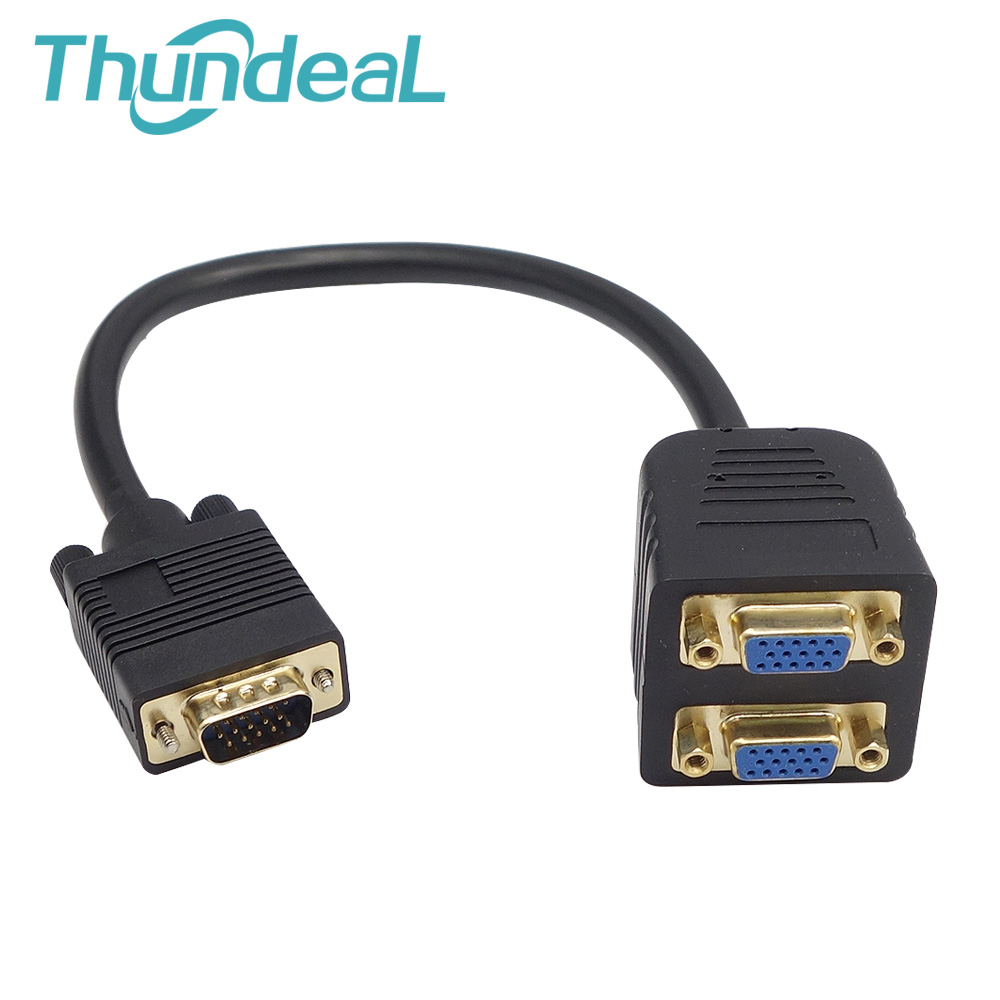 VGA 2 to 1 Out Switch Cable Male to Female M/F 2 in 1 out Adapter Converter Magnetic Immunity for Camera Projector not Splitter