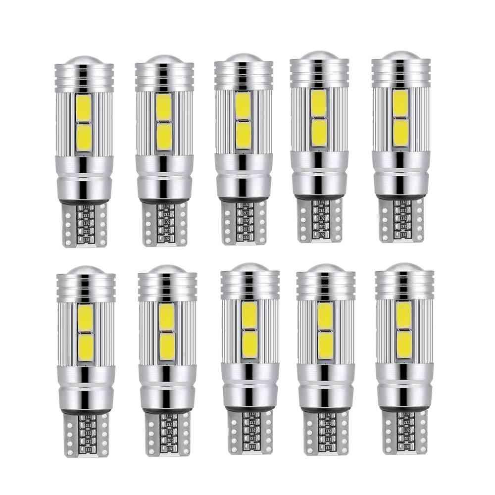 10pcs T10 White 5630 LED 194 W5W 10 SMD Canbus Error Free Car Side Wedge Light Bulb 12V Auto Interior Light  For Car LED Light