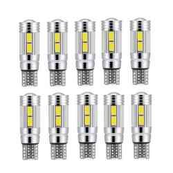 10 pièces T10 blanc 5630 LED 194 W5W 10 SMD Canbus cale latérale sans erreur ampoule 12V, lumière intérieure de voiture lumière LED