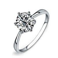 оптовая размер 7 белый циркон кольцо циркон обручальные кольца для женщин 10 шт./лот бесплатная доставка