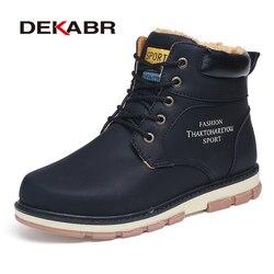 DEKABR/Популярный бренд распродажа зимние ботинки высокое качество из искусственной кожи теплые сапоги Водонепроницаемый Повседневное Рабоч...