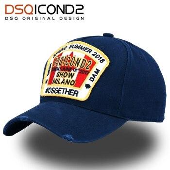 DSQICOND2 Yenİ Yüksek Kalİte Marka beyzbol şapkası Erkekler Kadınlar için Yaz SIMGESI Snapback Kap Rahat Açık Pamuk DSQ Baba Şapka Casquette