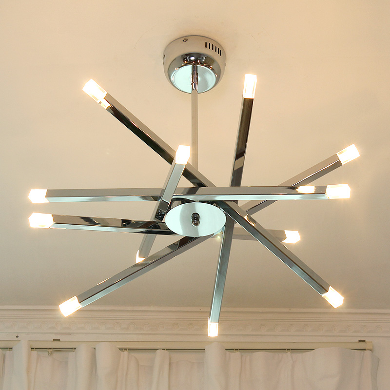 modern diy iron sky star overpass pendant ligh living room bar