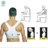 Kongdy volta postura corrector ajustável coluna suporte cinto ombro bandagem jubarte correção ombro alívio da dor cinta