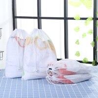 4 PCS Mesh Wäsche Tasche Korb Kordelzug Strahl Port Unterwäsche Bh Waschen Taschen Haushalt sauber Organizer Für Kleidung-in Wäschesäcke aus Heim und Garten bei
