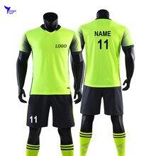 e620ef0f4fc85 De equipo de fútbol conjunto uniformes 2019 personalizado Mens impresión  camisetas de fútbol Kits jóvenes niños