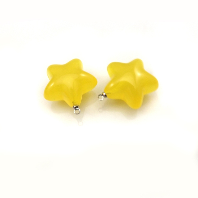 Aliexpress buy bright jelly yellow star shaped acrylic bright jelly yellow star shaped acrylic pendants for diy 22mm 50pcslot mozeypictures Image collections
