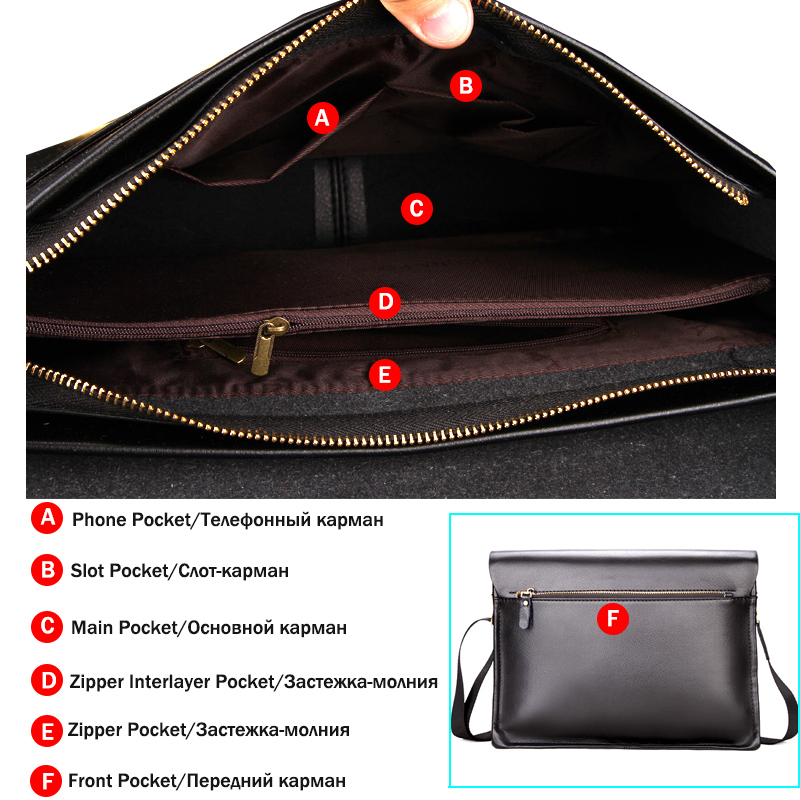 3358139493e0 VICUNA POLO Famous Brand Men Handbags Casual Shoulder Bag For Male Leather  Mens Crossbody Bag Large Capacity Mens Business Bags-in Crossbody Bags from  ...