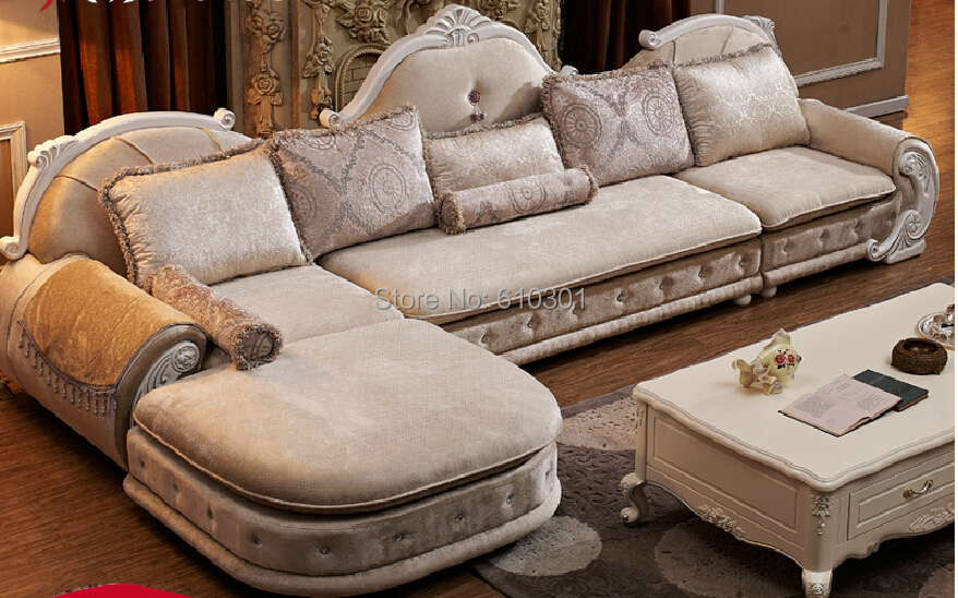 European Style Sofa New Classics French Sofa Designs On Woodwork Fabric Sofa For Living Room
