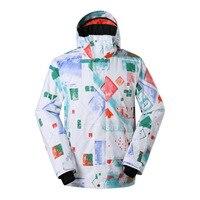 Gsou Snow Ski Jackets Men Winter Outdoor Warm Snowboard Jacket Coat Male Waterproof Snow Jacket