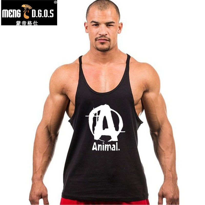 2016 famous brand animal letter print   tank     top   men 7 colors stringer   tank     tops   fitness singlets