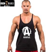 2016 famous brand animal letter print tank top men 7 colors bodybuilding stringer tank tops fitness singlets недорого