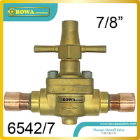7/8 Global shutoff Valve with extend longer copper tube designed for cooling and freezer equipments