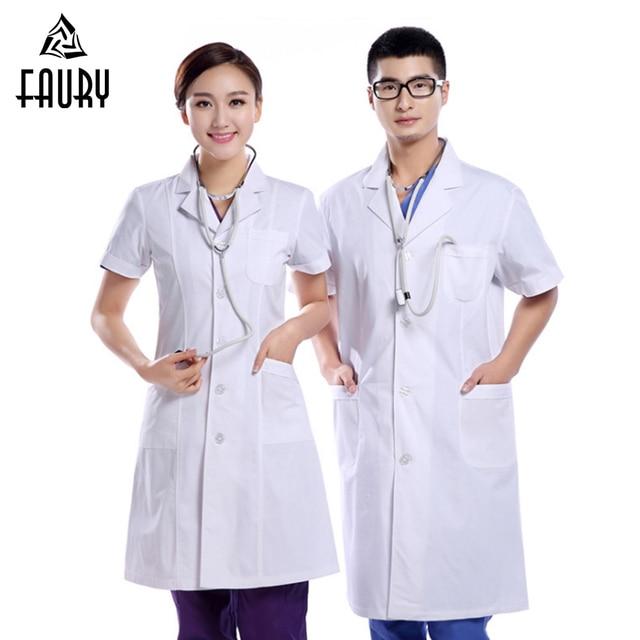 657eae33700 Wholesale Nurse Doctor Uniform Summer Hospital Medical Pharmacy Surgical  Uniforms Beauty Salon Scrub Set Women Men Long Coat