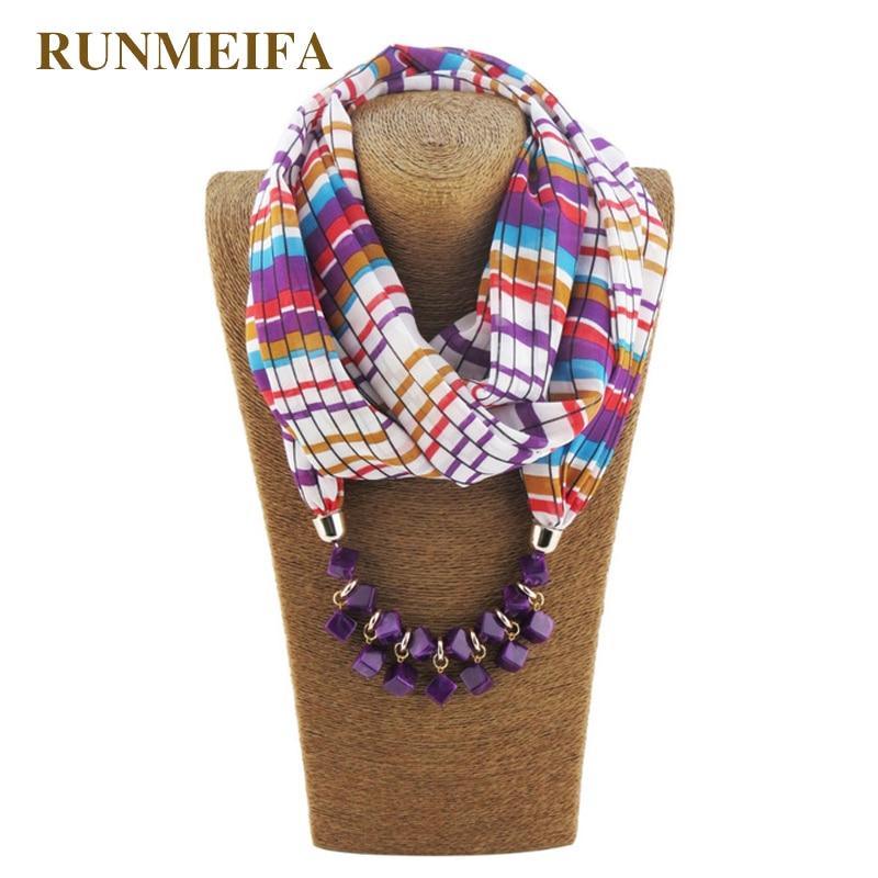 [RUNMEIFA] Amazing Fashion Women Chiffon Printed Luxury Brand Scarfs Pendant Scarf Jewelry Neklace Scarves Beach Shawl Wraps