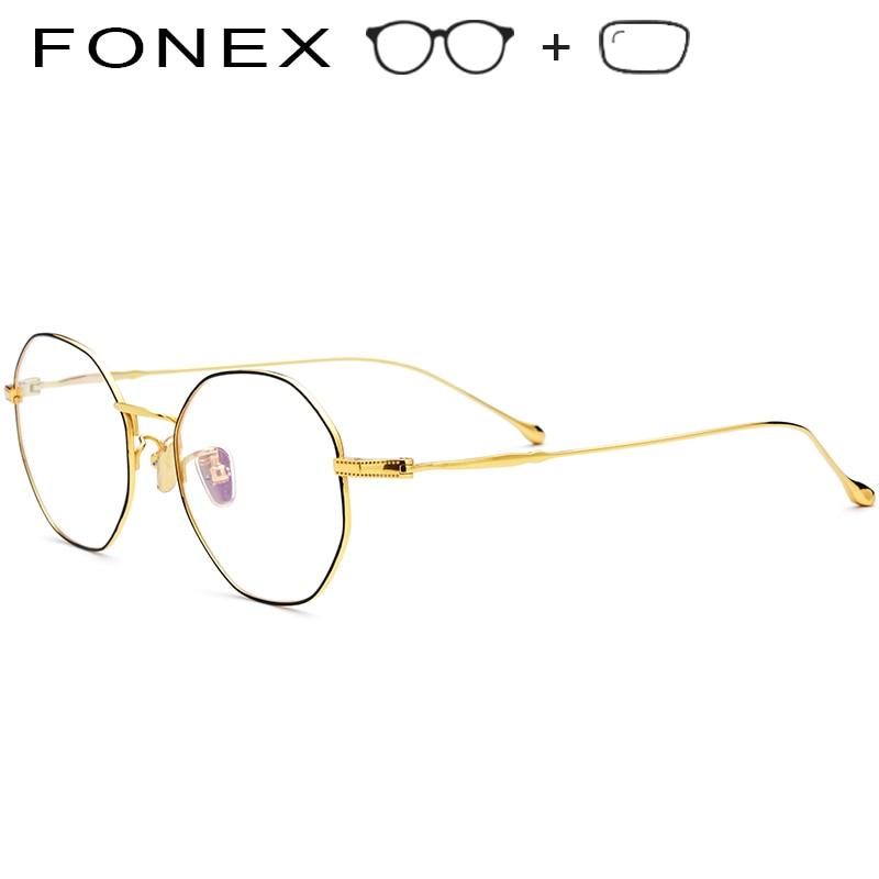 Neue Frauen Ultraleicht Myopie 2019 Rahmen B Luxus Reine Männer Titan Optische Polygon Brillen xYwgOIwaq