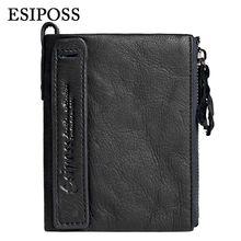 ESIPOSS Marke Männer Geldbörsen Bifold Geldbörse Aus Echtem Leder Brieftasche Kartenhalter 2016 New Luxury Designer Mini Männlichen Walet dollar preis