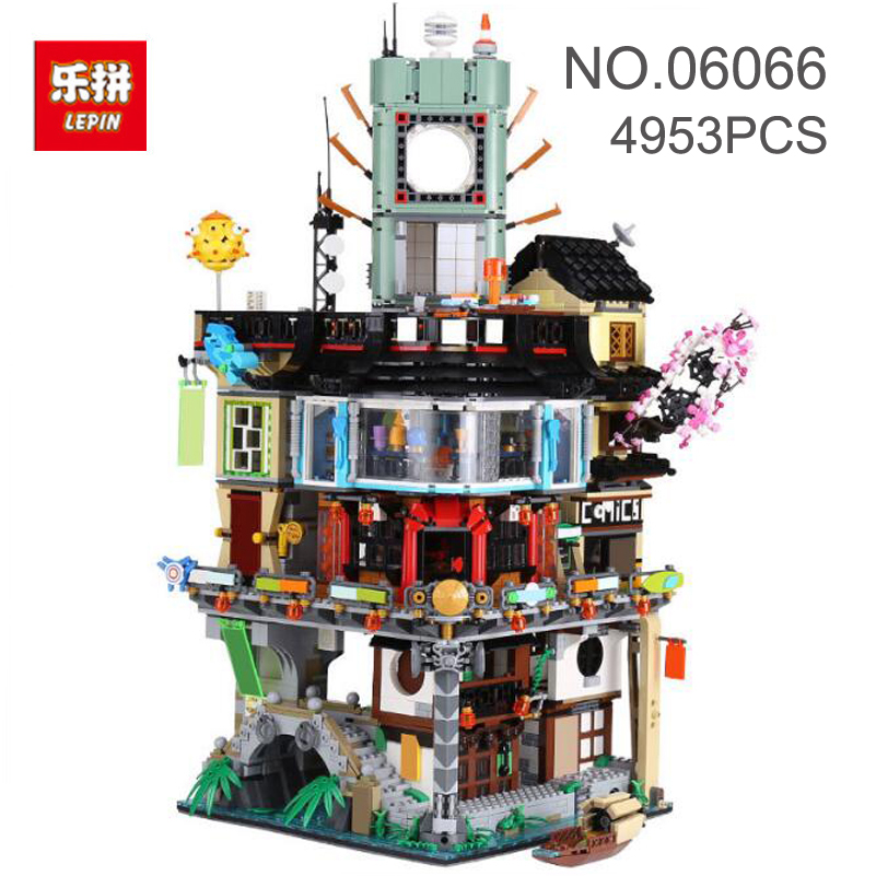 06066 Construction Building Blocks Compatible Lepin Ninjago Master Modular 4953pcs Bricks Toys For Children Christmas Gifts 2018 hot ninjago building blocks toys compatible legoingly ninja master wu nya mini bricks figures for kids gifts free shipping